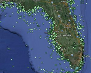 Florida Reefs And Wrecks Map.Rent A Boat And Explore Florida S Reefs And Wrecks