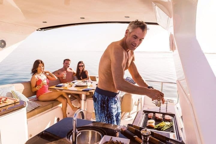 bbq on a boat