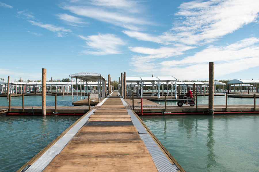 Boat docks on Virginia Key, Florida