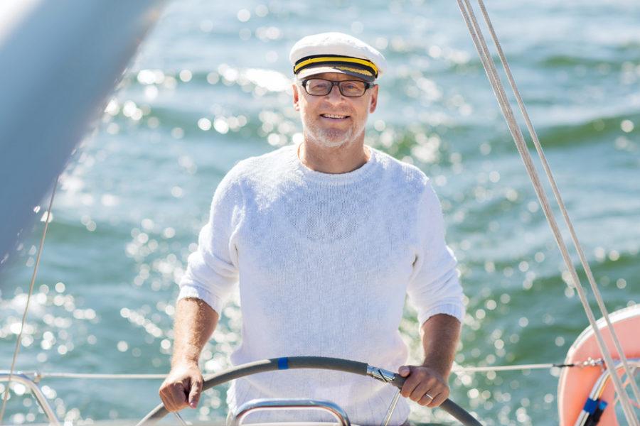 Captain a boat