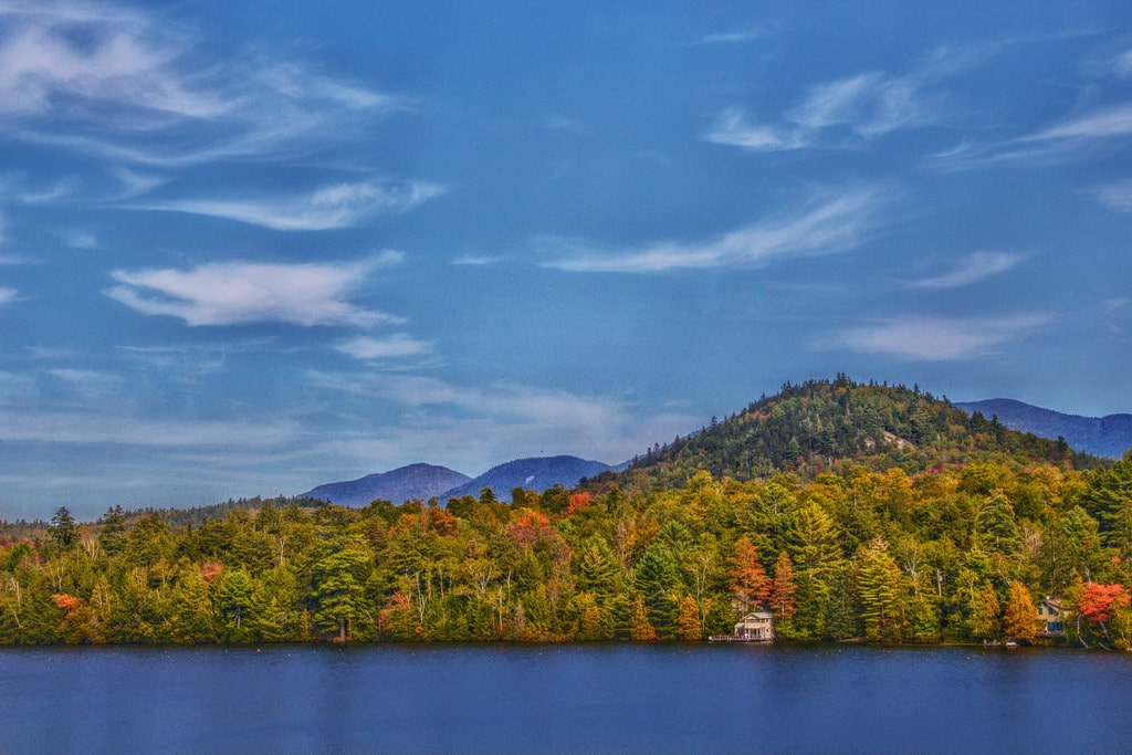 Fall Boating in Lake Placid, New York