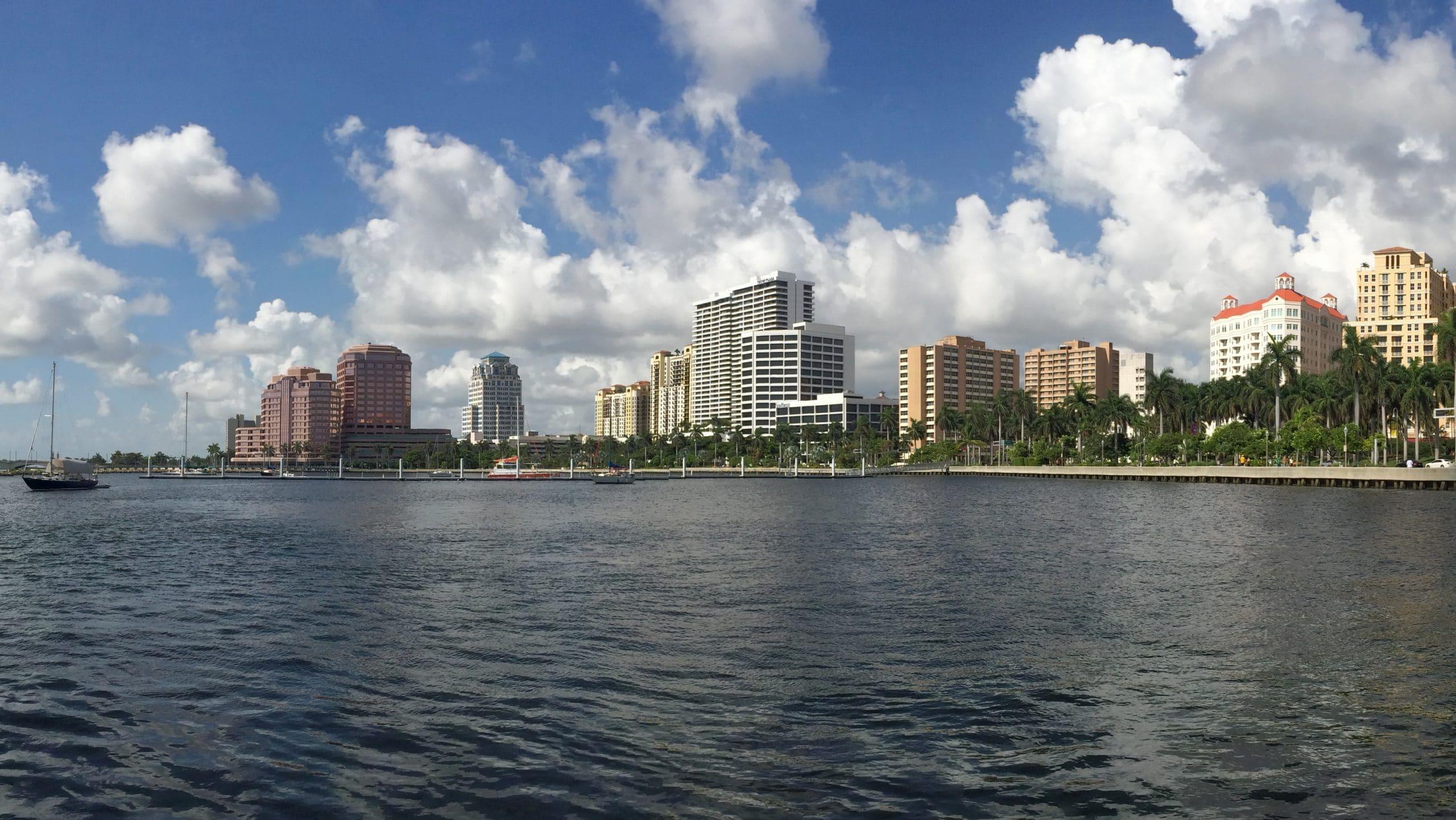 Downtown Skyline and Intracoastal Waterway