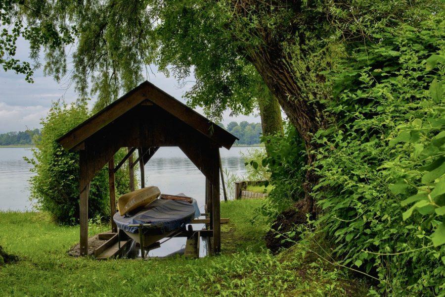 DIY boat shed