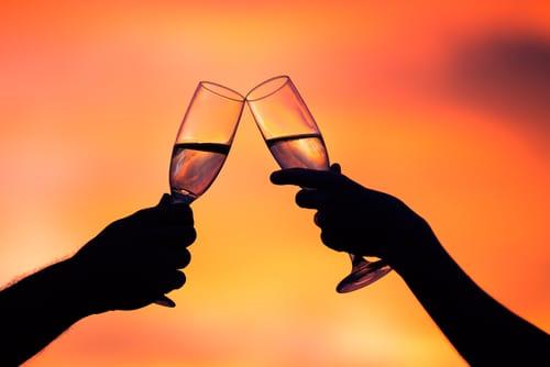 champagne sunset